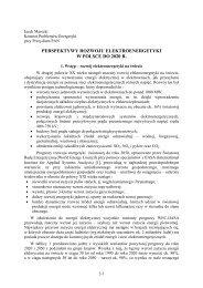 Perspektywy rozwoju elektroenergetyki w Polsce. - MANHAZ