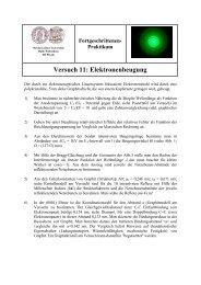 Praktikum Versuch 11: Elektronenbeugung - Positron Annihilation in ...