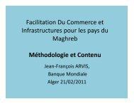 Facilitation Du Commerce et Infrastructures pour les pays du ... - CMI