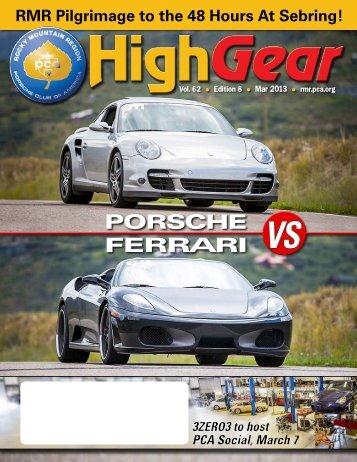 March 2013 - Rocky Mountain Region Porsche Club - Porsche Club ...