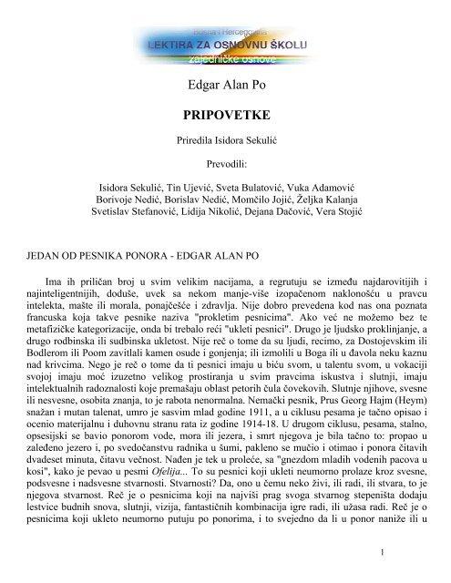 Edgar Alan Po PRIPOVETKE