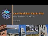 Lynn Municipal Harbor Plan - Economic Development and Industrial ...
