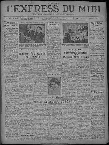 25 janvier 1930 - Bibliothèque de Toulouse