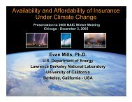 Availability and Affordability of Insurance Under Climate Change