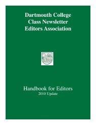 Newsletter Editors Handbook (PDF)