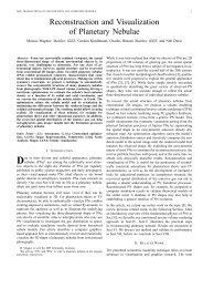 Reconstruction and Visualization of Planetary Nebulae - Computer ...