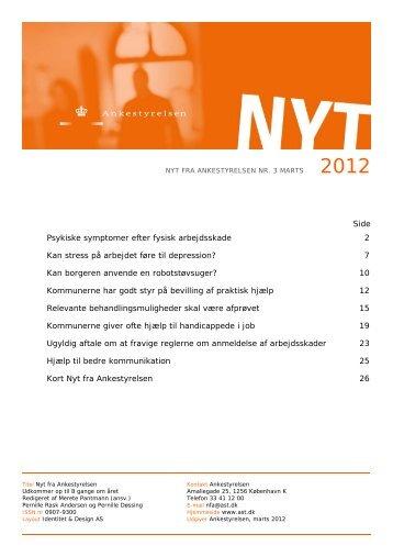 Nyt fra Ankestyrelsen nr. 3 marts 2012