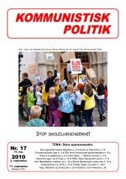 Nr. 17 2010 ! - Kommunistisk Politik