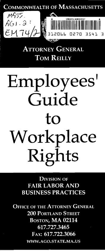 Employees' Guide Workplace Rights
