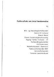 Fællesaftale om lokal løndannelse - Forhandlingskartellet