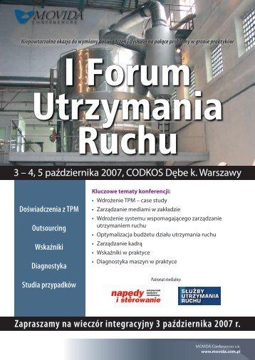 I Forum Utrzymania Ruchu.indd - p.wnp.pl