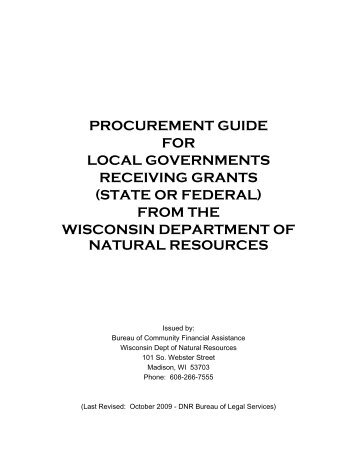 procurement guide for local governments receiving grants