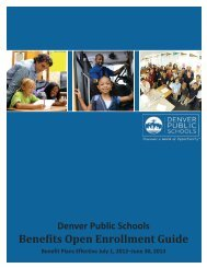 Benefits Open Enrollment Guide - Denver Public Schools