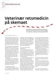 veterinær retsmedicin på skemaet - Elbo