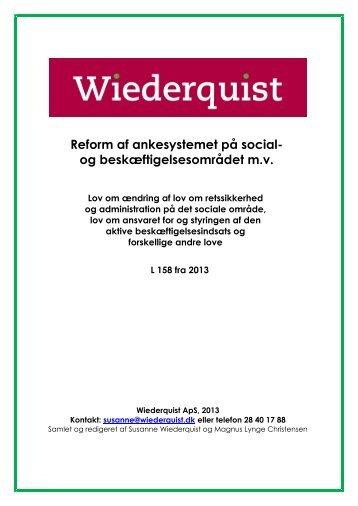 Reform af ankesystemet på social- og ... - Wiederquist