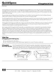 HP StorageWorks DAT Drives - VB