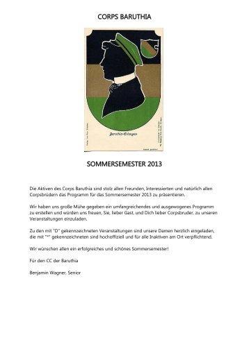 Semesterprogramm SS 2013
