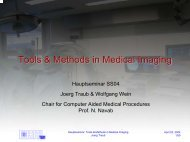 Tools & Methods in Medical Imaging - Chair for Computer Aided ...