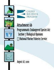Programmatic Endangered Species Act Section 7 Biological ...
