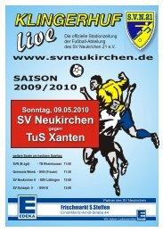 Stadionheft Nr. 11 vom 09.05.10 - SV Neukirchen - SV Neukirchen ...