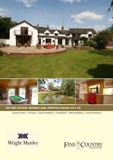 yew tree cottage, wetreins lane, stretton, malpas ... - Fine & Country