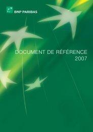 DOCUMENT DE RÉFÉRENCE 2007 - BNP Paribas