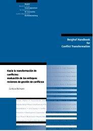 Hacia la transformación de conflictos - Berghof Handbook for ...