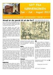 NYT FRA KØBNERKIRKEN Juni - Juli - August 2012