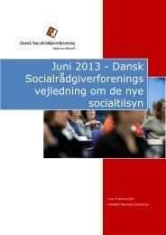 DS vejledning om de nye socialtilsyn - Dansk Socialrådgiverforening