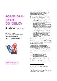 Forælderskab og Orlov - Landsforeningen for bøsser og lesbiske