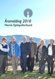 Årsmelding 2010 - Norsk Epilepsiforbund
