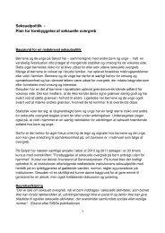 Seksualpolitik - Plan for forebyggelse af seksuelle overgreb