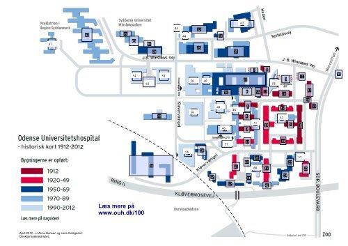 Historiske Oversigtskort 1912 2012 Odense Universitetshospital
