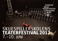 Program for skuespillerskolens teaterfestival 2012 - Teater Momentum