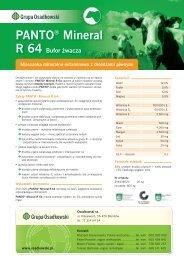 PANTO Mineral R64, Power Mix i Lacto-Start - Osadkowski SA