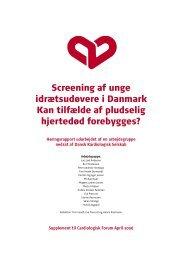 Screening af unge idrætsudøvere i Danmark - Hjerteforeningen