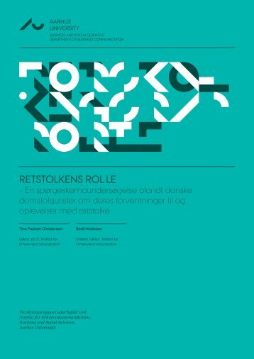 retstolkens rol le - Department of Business Communication - Aarhus ...