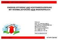ENERGIE-EFFIZIENZ UND KOSTENREDUZIERUNG MIT ...