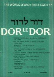 The Biblical Tradition of Popular Democracy - Jewish Bible Quarterly