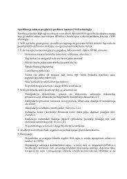 Specifikacija zahteva projekta iz predmeta Internet i Web tehnologije ...