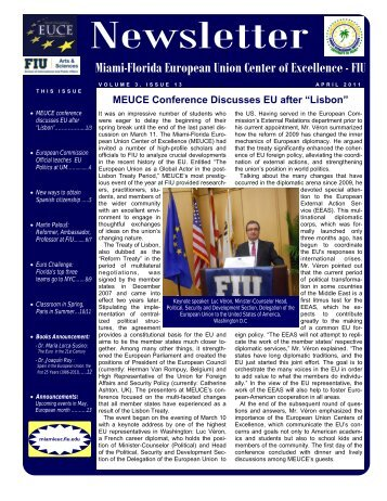 April 2011 13th issue (*.pdf) - College of Arts & Sciences - Florida ...