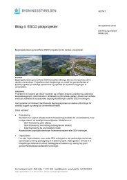 Bilag 4: ESCO pilotprojekter - Bygningsstyrelsen