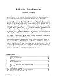 Habilitetskrav til voldgiftsdommere - Juridisk Institut