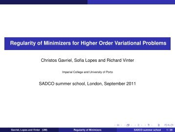Regularity of Minimizers for Higher Order Variational Problems