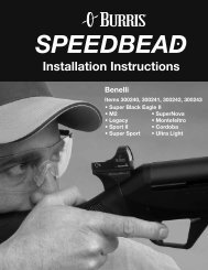 Burris SpeedBead Benelli 2 Installation Instructions - OpticsPlanet.com
