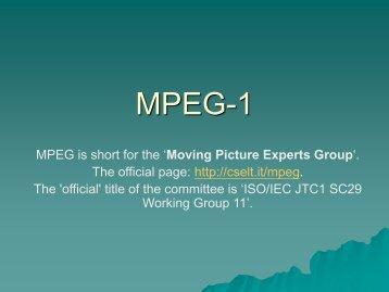 MPEG Tutorial