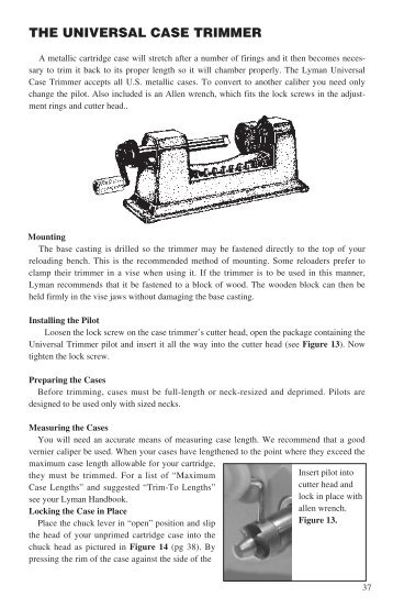Instructions Lyman Products