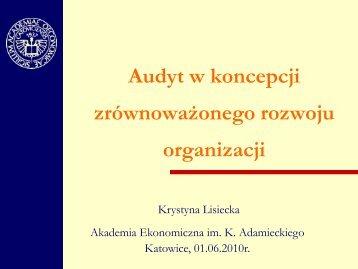 Audyt w koncepcji zrównoważonego rozwoju organizacji - p.wnp.pl