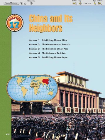 Chapter 17 Section 1: Establishing Modern China - Nexuslearning.net