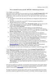 Indicazioni per il docente Cari colleghi e care colleghe - GESN